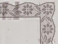 "Photo from album ""Вяжем все on Yandex. Filet Crochet, Diy Crochet, Crochet Doilies, Embroidery On Kurtis, Kurti Embroidery Design, Embroidery Patterns, Crochet Edging Patterns, Crochet Borders, Cross Stitch Geometric"