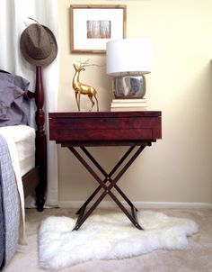 Old Silverware chest turned nightstand!