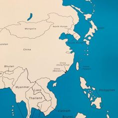 These control maps, display the names of each country and help to check work done by children. Local Map, Montessori Materials, Kids House, Geography, Asia, Activities