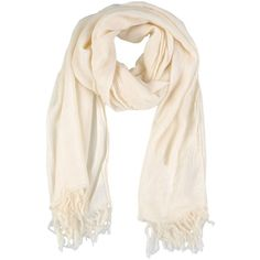Caporea Oblong Scarf (830 MXN) ❤ liked on Polyvore featuring accessories, scarves, cachecol, ivory, long scarves, fringed shawls, ivory shawl, oblong scarves and fringe scarves