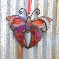 Stained Glass Art Deco Butterfly Sun catcher