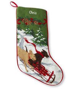 Christmas Needlepoint Stocking, Cotton: Holiday Decorations | Free ...