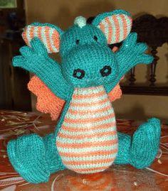 du tricot et des jouets: petit dragon