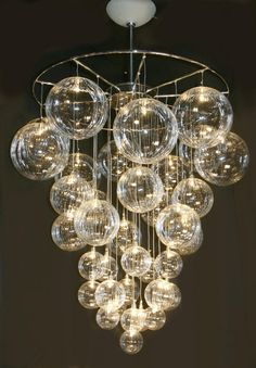 Home Interior, Between A Bubble Chandelier and Imaginations: Grapes Bubble Chandelier