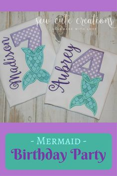 Mermaid Birthday Shirt, Mermaid Tail Birthday shirt, Girl Birthday shirt, personalized mermaid shirt, Mermaid tail shirt, sew cute creations #mermaidbirthday #mermaid #birthday #baby #kids #girl #aff