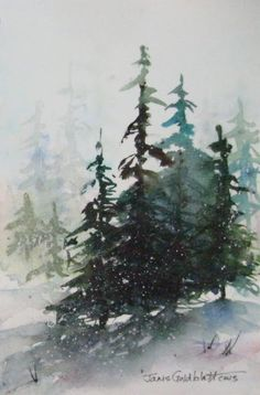 Janis Goldblatt's Art Blog: Evergreens ( #6 in series)