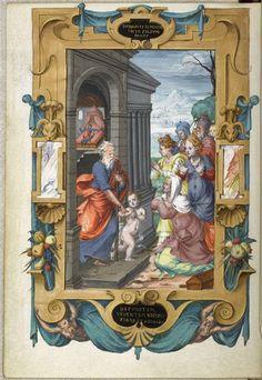 Constable Anne De Montmorency Hours Elisha Raising The Son Of A Shunammite Folio 48