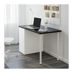 LINNMON / ALEX Pöytä - mustanruskea/valkoinen - IKEA