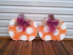 FALL Wooden Door Hanger - SINGLE PUMPKIN - Great for your Home and as a Gift on Etsy, $20.00