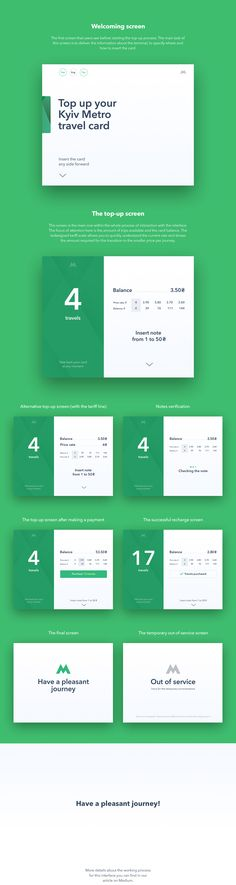 Contactless travel card top-up terminal on Behance
