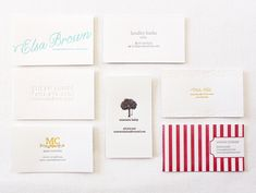 Letterpress Business Cards #letterpress #business cards