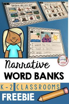 NARRATIVE WRITING - Kindergarten and first grade writing FREEBIES - complete writing units for guided writing or writers workshop - FREE printables and activities you can use with your students or homeschool de escritura de jardín de infantes Narrative Writing Kindergarten, Writing Curriculum, Writing Lessons, Teaching Writing, Kindergarten Activities, Writing Prompts, Writing Rubrics, Paragraph Writing, Informational Writing