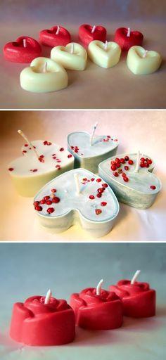 Candele per creare l'atmosfera giusta... // #Valentine candles to set the right mood... - di @Aromantiche Art via it.dawanda.com