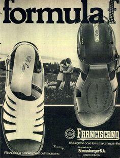 Sandálias Franciscano #Brasil #anos70 #retro #anunciosAntigos #vintageAds