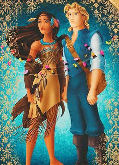 Pocahontas and John Smith, Disney Fairytale Designer Collection