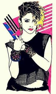 Madonna's Creations of the Week >> WEEK 17 - Madonna Art Vision Lady Madonna, Madonna Art, 1980s Madonna, Pop Art, Madona, Divas, The Pussycat, Pussycat Dolls, 80s Pop
