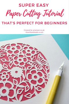Super Easy Paper Cutting Tutorial, Perfect For Beginners - Do you want to learn about paper crafts but don't know where to start? Have a look at this easy p - Paper Cutting Patterns, Paper Cutting Templates, Paper Cutting Art, Box Templates, Paper Craft Templates, Cut Paper Art, Paper Paper, Origami Paper, Diy Home Decor For Apartments