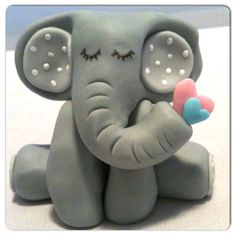 Elephant Cake topper on Etsy, $14.00