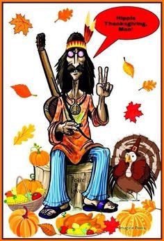American Hippie - Hippy Thanksgiving Man