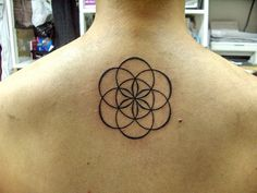 Simple seed of life tattoo