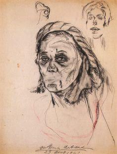 Antonin Artaud -Portrait de Colette Allendy, 1947