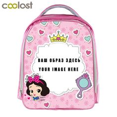 a62fdba3ace Custom Your Image Logo Name Backpack for Girls Kindergarten Backpack  Children School Bags Girls Pink Bookbag