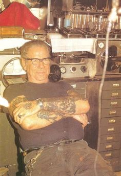 """If you don't know who Sailor Jerry is– you don't know tattoos. Norman """"Sailor Jerry"""" Collins is considered the foremost American tattoo artist of his time, and defined the craft in tw… Sailor Jerry Flash, Norman, Tattoo Flash Art, Tatoo Art, Flash Tattoos, Johnny Depp, Old Tattoos, Vintage Tattoos, Arabic Tattoos"""