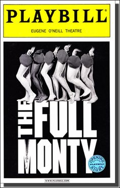The Full Monty Limited Edition Opening Night Playbill