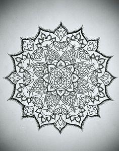 Flower design mandala