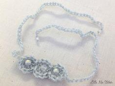 Crochet Patterns Galore - Beads and Circles Baby Headband