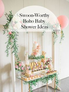 Create the boho baby shower of your dreams for yourself or a beloved friend or family member with these dreamy ideas.