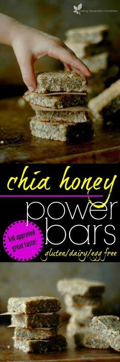 Paleo Chia Honey Power Bars :: Gluten, Egg, and Dairy Free