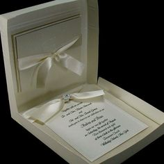 50 Boxed Couture Wedding Invitations Your guests by JustEmbossed