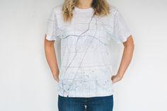 Las Vegas map T-shirt by www.citeefashion.com