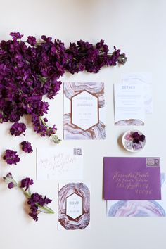 If you're thinking of being on trend and using shades of pretty purple in your wedding day palette, we are breaking down how to flawlessly design your invitation suites to set the tone! Lavender Wedding Colors, Purple Wedding, Laser Cut Wedding Invitations, Wedding Stationery, Invites, Plan Your Wedding, Wedding Day, Wedding Stuff, 30th Wedding Anniversary