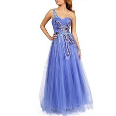 Baltimore- Periwinkle Prom Dress - Polyvore