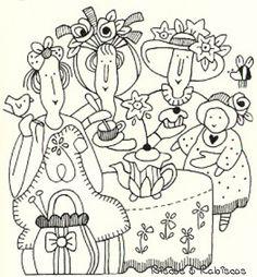 *Tea time & embroidery <3