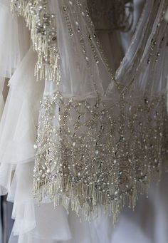 <3 Beaded Wedding Gown Top ~ The perfect top for a silk skirt....