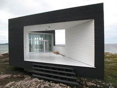 Fogo Island Artist Studio, Newfoundland, Canada;  designed by Saunders Architecture
