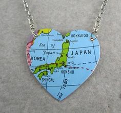 map necklace. saw this and thought of you @Haley Lamb
