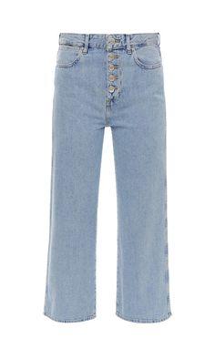 9f673622b Широкие синие джинсы бойфренд с застежкой на болты W29TFH17J