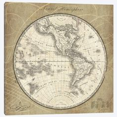 Construct a magnificent and tidy appeal to the walls with this Amanti Art French World Map III by Susan Schlabach Framed Canvas Wall Art. Old Maps, Antique Maps, Vintage Wall Art, Vintage World Maps, Canvas Frame, Canvas Wall Art, Canvas Prints, Art Prints, Oriental