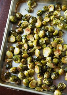 One of the best ways to eat Brussels sprouts is to roast them with some garlic! Most veggies are my friends. Side Dish Recipes, Vegetable Recipes, Vegetarian Recipes, Cooking Recipes, Healthy Recipes, Healthy Snacks, Healthy Eating, Vegetable Side Dishes, I Love Food
