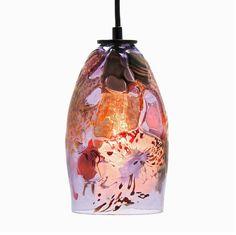 Glass Pendant Light - Riforma Shard Upcycled Glass - Violet by EastSideGlassStudio on Etsy https://www.etsy.com/listing/258820929/glass-pendant-light-riforma-shard