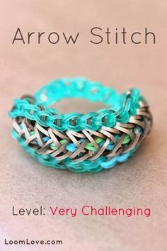 Rainbow Loom Patterns: Arrow Stitch Rainbow Loom Pattern