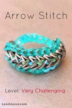 Rainbow Loom Patterns: Arrow Stitch Rainbow Loom Pattern