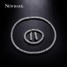 Find More Jewelry Sets Information about NEWBARK Luxury CZ Diamond Jewelry 18k…