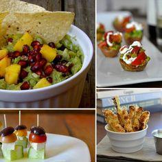 Vegetarian appetizers. Yum.