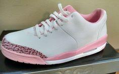 Womens Nike Jordan 23 Classic White Leather Shy Pink Cement sz 9
