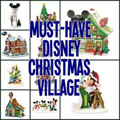 Festive Disney Christmas Villages